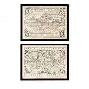 Постеры Eichholtz 106907 Vintage Maps (2 шт.)