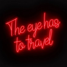 Настенный декор Eichholtz 113661 LED text The Eye Has To Travel